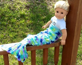 Be A Mermaid Blanket Fits American Girl