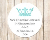 PRINTABLE crown address labels . personalized crown return address labels . diy printable / digital file