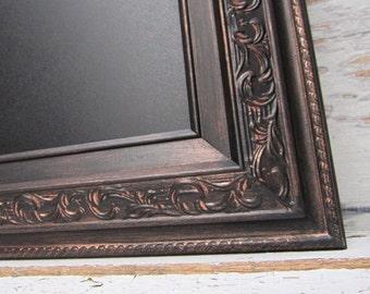 """LARGE MAGNETIC FrAMED CHALKBOARD For Sale 42""""x30"""" Oil Rubbed Bronze Magnetic Framed Chalkboard Tuscan Kitchen Decor Framed Chalk board"""