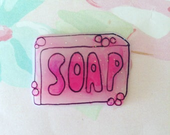 Soap pin, Cry Baby Brooch