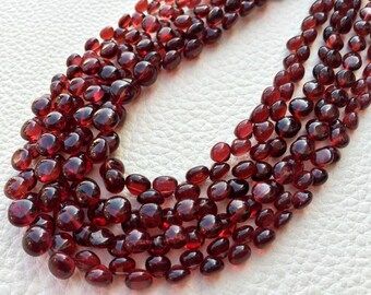 Brand New, 8 Inch Strands, SUPERB Very- Very-Finest AAAAA Quality, PYROPE Red Garnet Smooth Onions Briolettes, 5-6mm aprx.