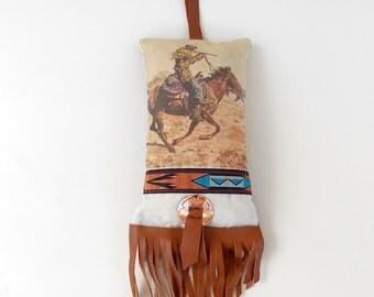 Western Sachet Bag - Lavender Scented Sachet - Car Air Freshener - Southwestern Hanging Sachet - Western Gift Idea