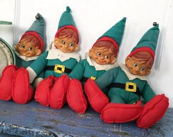 Vintage Stuffed Elf, Vintage Christmas Elf, Vintage Elf Doll, Large Elf Doll, Gnome, Choice