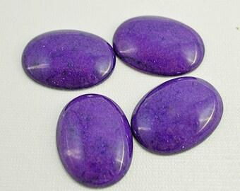 Purple mountain jade cabochon, 40x30mm - #1773