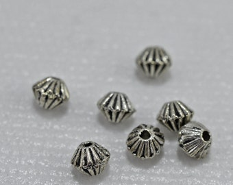 Antique silver plated spacers, 5mm - #1975