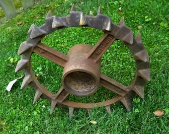 Industrial Crown of Thornes Cog Gear Antique Vintage Steampunk Cast Iron Primitive Foundry Heavy