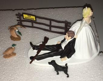 Duck Hunting Wedding Cake Topper Groom's Cake Black Lab