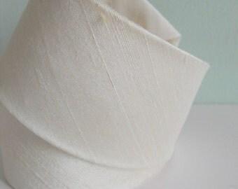 Raw Ivory Silk Neck Tie