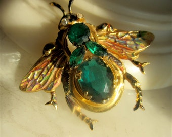Coro Sterling Vermeil Bug Pin