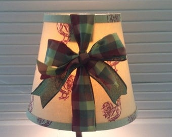 French Country Lamp  Shade with Roosters