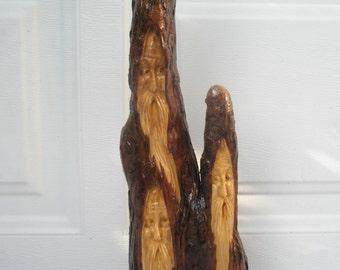 Free Shipping Three Wise Men Wood Spirit Santa carving