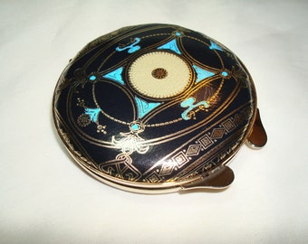 1994 Italian Leather Compact Case with Mirror.