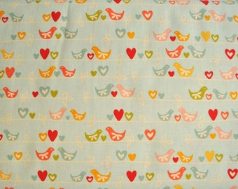 Riley Blake Sweetest Thing love birds - sold by the half yard