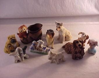 Dog Knick Knack Figurines Porcelain Composite Plastic