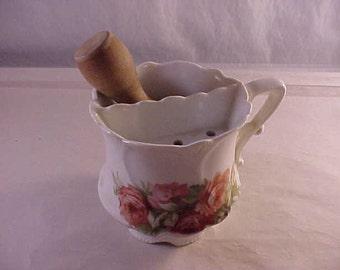 Porcelain Shaving Mug with Ever-Ready Shaving Brush