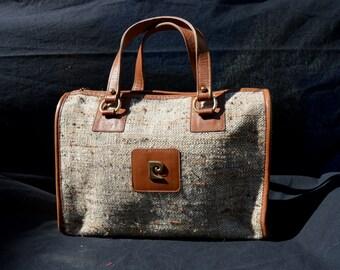 Vintage PIERRE CARDIN satchel bag purse handbag 60's like new classic by thekaliman