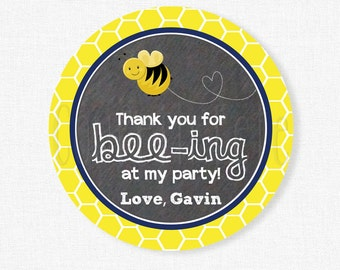 Bumble Bee Favor Tags, Bee Gift Tags, Bumble Bee Birthday Party Tag, Bee Favors, Boy Birthday Favor Tags, Personalized