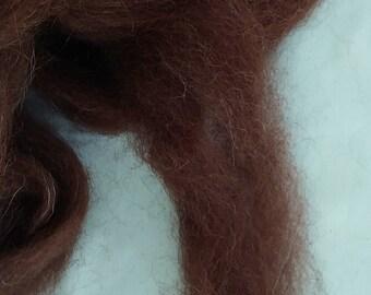New Hampshire grown Dark Brown Alpaca 4 Oz.