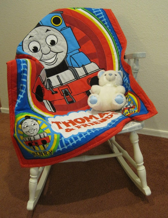 Thomas The Tank Engine Amp Friends Baby Quilt Baby Boy Red Blue