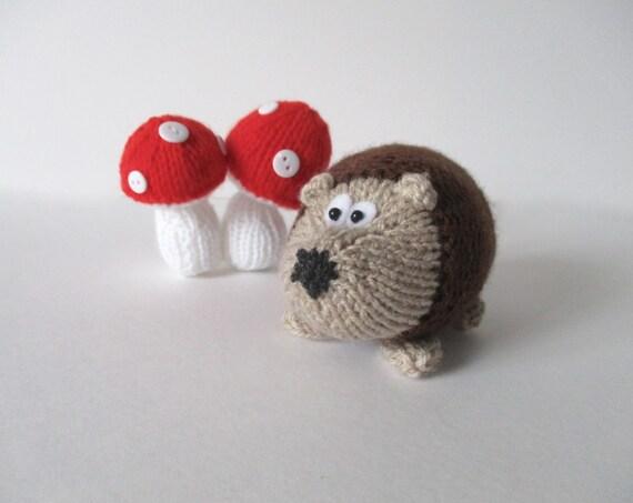 Hedgehog Toy Knitting Pattern : Kensington Hedgehog toy knitting patterns by fluffandfuzz ...