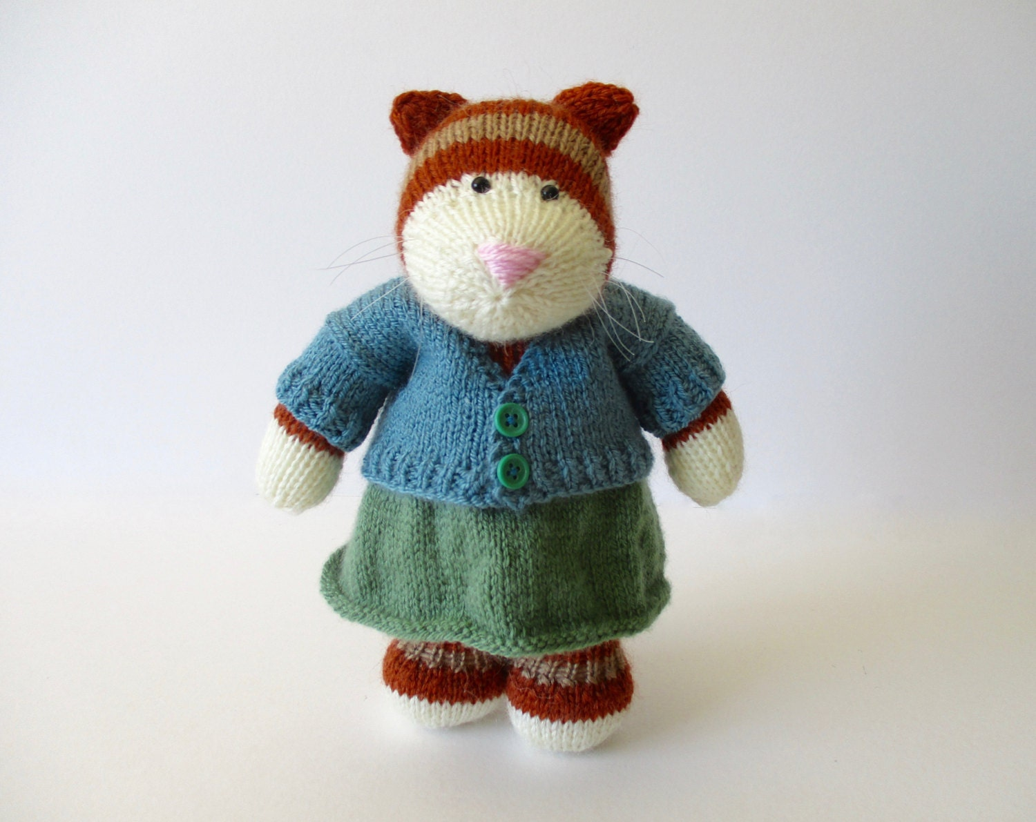 Knitting Patterns For Cat Toys : Tabby cat toy knitting pattern