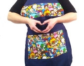 Apron made from Mario Brothers Fabric Ready to Ship Gamer Apron Kitchen Crafting Barbeque Baking Smock