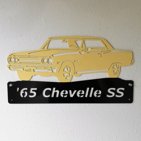 Personalized Metal Sign- Man Cave- Classic -1965 Chevelle - Muscle Car -Garage Sign -Custom Colors - Chevrolet
