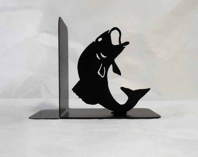 Fish Silhouette Single Metal Art Bookend