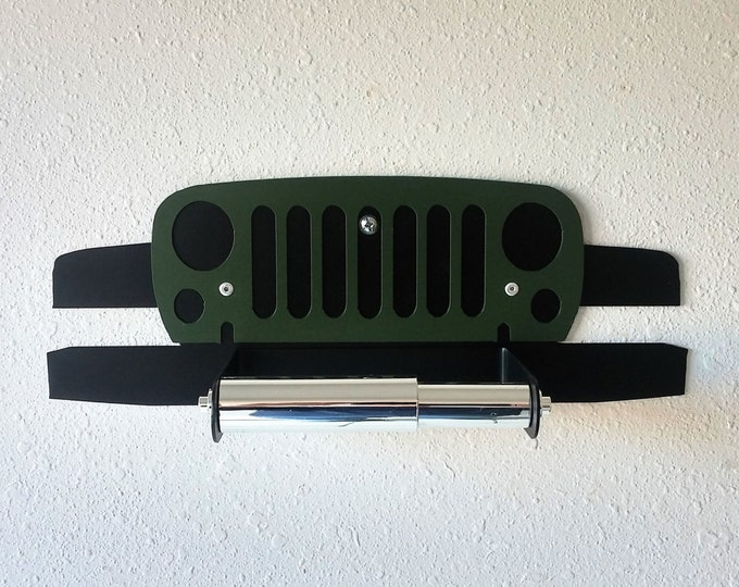 Willys, Jeep, 4x4, Wall Decor, Car Art, Toilet Paper Holder, Bathroom, Man Cave, Garage, Military, Automotive