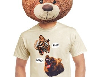 Grizzly bear shirt etsy grizzly t shirt tiger tshirt for fans of wild animals bear nature tigers shirts funny publicscrutiny Gallery