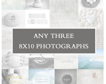 3 8x10 Photos - Photography Display, Home Decor Set, Fine Art Photos, Wall Art Set, Home Decor Photo, Affordable Pictures for Decorating