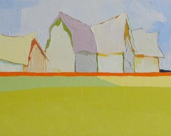 SymphonyIV - Oil Painting, 10x30- Original, Fine Art, Barn