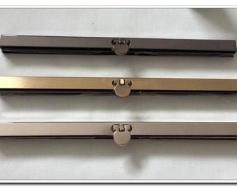 "3 sets (1 gunmetal,1 silver and 1 antique bronze) 19cm(7.5 inch) silver purse frame wallet frame,7-1/2"""