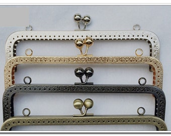 8 inch(20cm) antique bronze clutch frame sewing metal frame,purse frame supply, purse making supplies 4 color