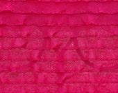 "Destash: 1"" ruffle in Crimson Red"