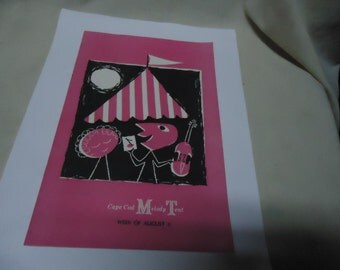 Vintage 1957 Cape Cod Melody Tent Playbill Booklet, Weeks of August 5 Vol 8, No 6, collectable
