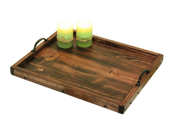 Wooden ottoman tray coffee table wood by bridgewoodplace