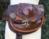 """Reserved for Awesome Amber, """"Just Bee"""" Pocket belt with carnelian stone and 6 pockets"""
