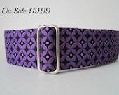 "Purple Martingale Collar, 1.5"" Martingale Collars, Greyhound Martingale Collar, Purple Dog Collar Purple Greyhound Collar, Sighthound Collar"