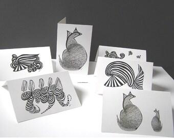 Abstract, Orcas at Play, print, black, white orange, blue, fantasy, home decor, office decor, wall art