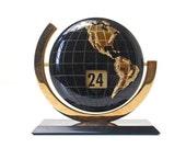 Vintage Perpetual Flip Globe Calendar