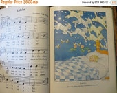 ON SALE Vintage Childrens Song Book-Hardback-Paper-Ephemera-Supplies-Illustrated-1936 Copyright-First Edition