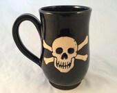 Tall Skull & Crossbones Mug