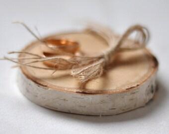 birch wedding  •  ring bearer pillow • birch wood ring bearer pillow for wedding decor