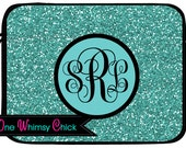 Glitter PATTERN Monogram Laptop Case Macbook Air Case Mac Book Pro Sleeve Custom with Name or Monogrammed Initials