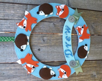 Nursery Wreath, Personalised Baby Wreath, Baby Shower Wreath, Nursery Decor, Baby Shower Gift, New Baby Gift, Door Wreath baby, Baby Naming
