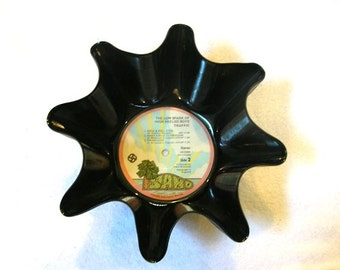 Traffic Record Bowl Made From Recycled Vinyl Album - Steve Winwood