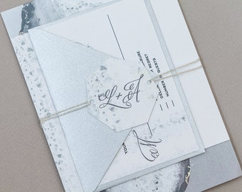 Geode Wedding Invitations,Rustic Agate Wedding Invitations,Abstract Modern Geode Wedding Invites,Desert Wedding Invite,Modern Rock Wedding