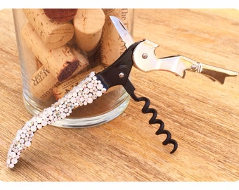 "Swarovski Crystal Encrusted Wine-""Oh!"" Wine Opener, Snowball Fight"