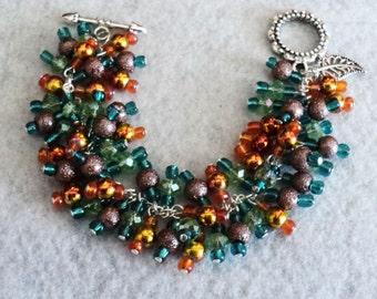 Charm Bracelet, Cha Cha Bracelet, Bohemian Bracelet, Boho Bracelet, Bohemian Jewelry, Boho Jewelry, Gypsy Jewelry - BIRD OF PARADISE